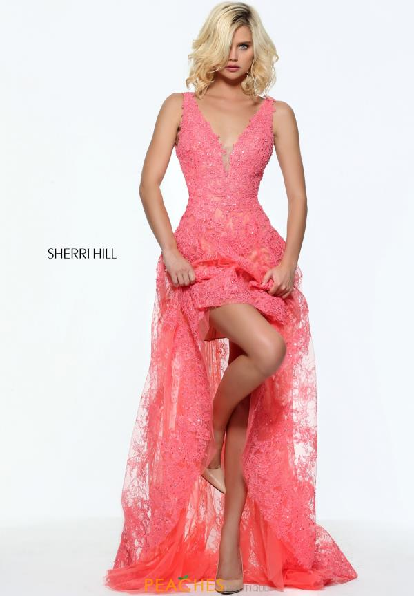 Sherri Hill Lace A Line Dress 50985