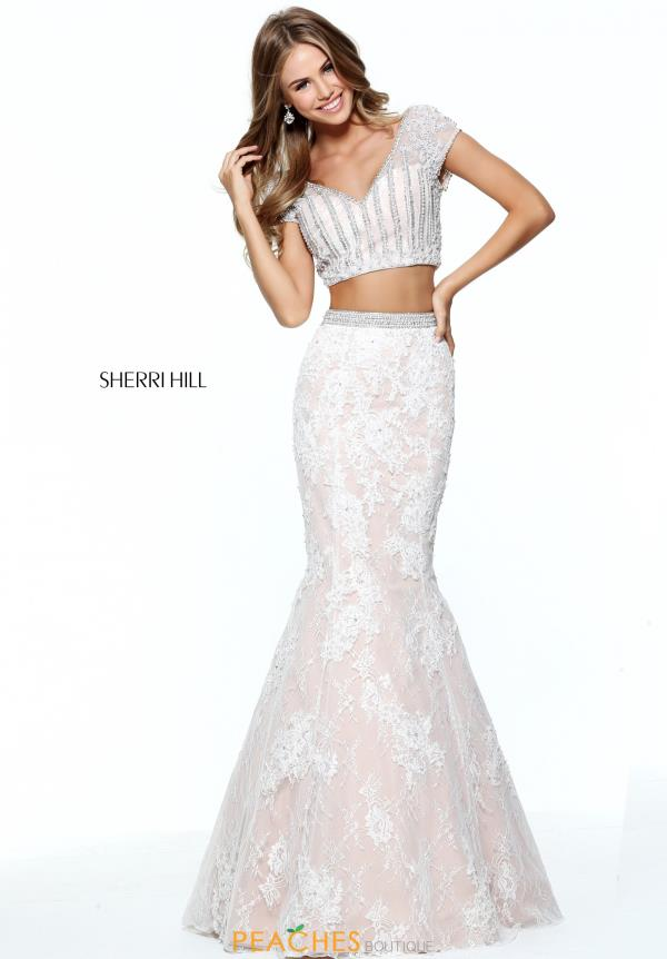 Sherri Hill Sleeved Two Piece Dress 51011