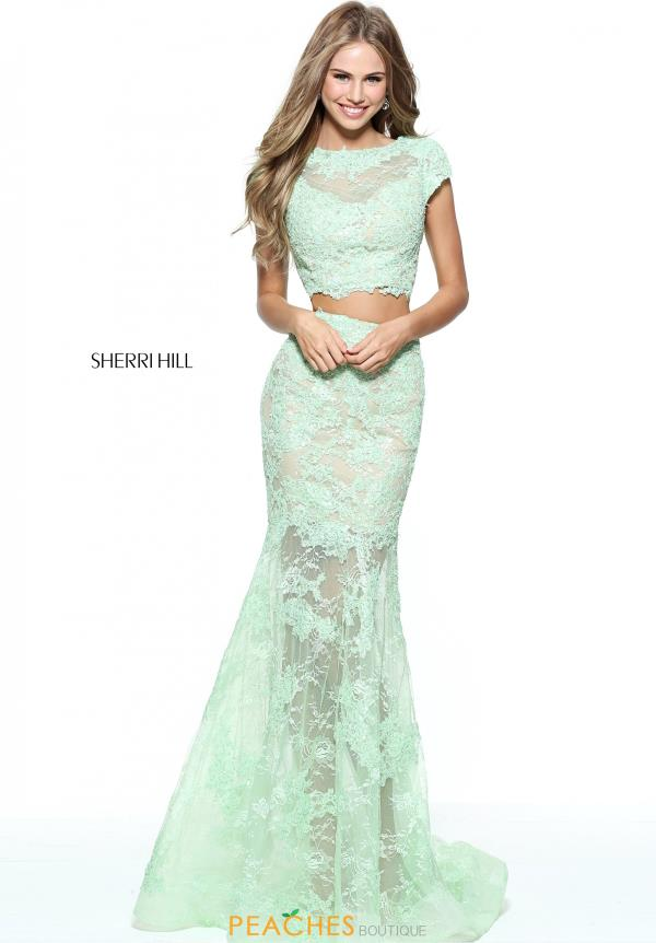 Sherri Hill Two Piece Lace Dress 51013