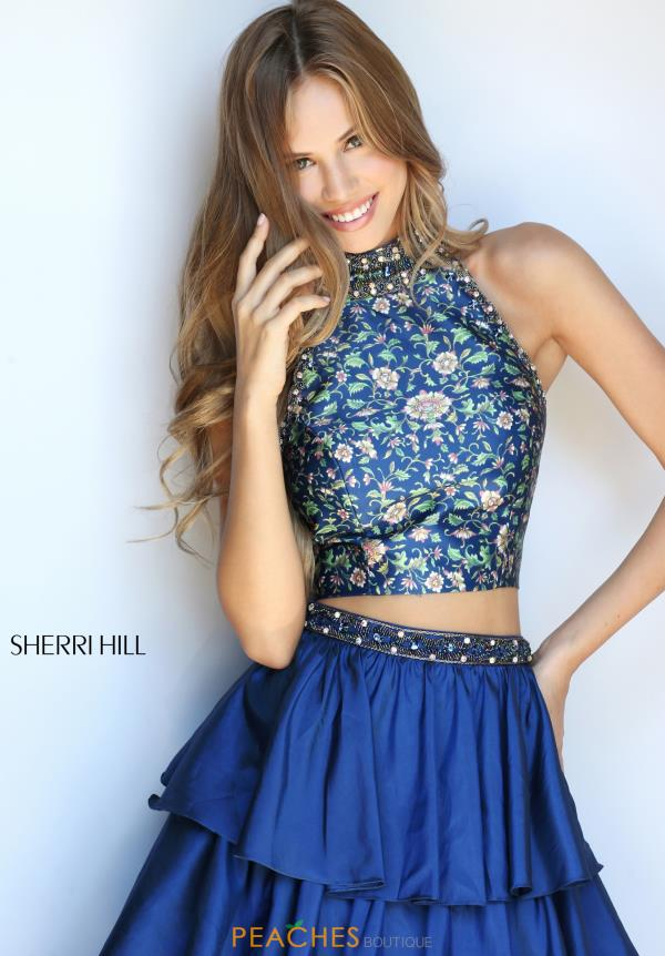 Sherri Hill Beaded A Line Dress 51040