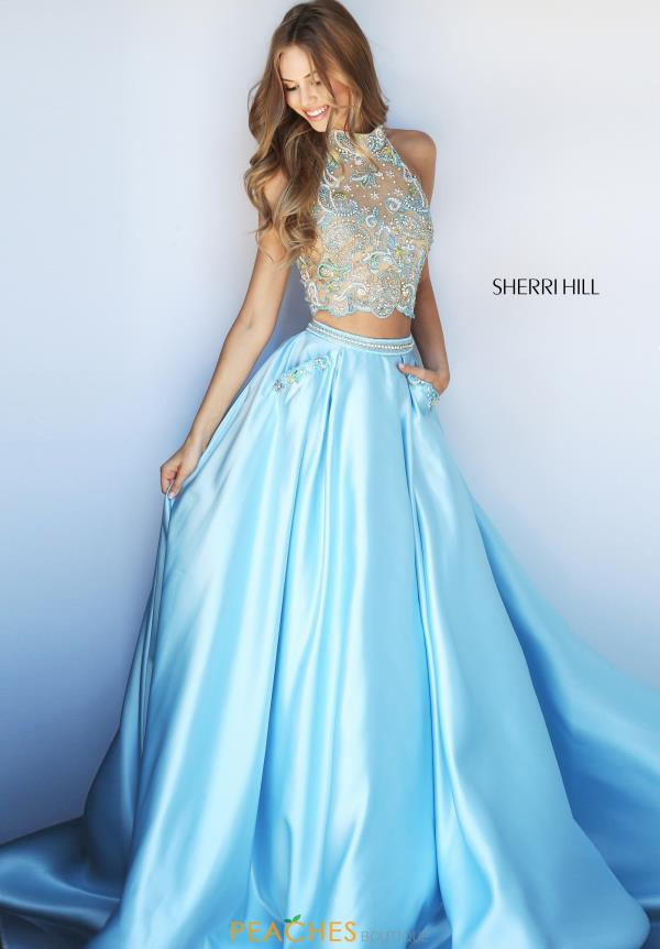 Sherri Hill Beaded A Line Dress 51041