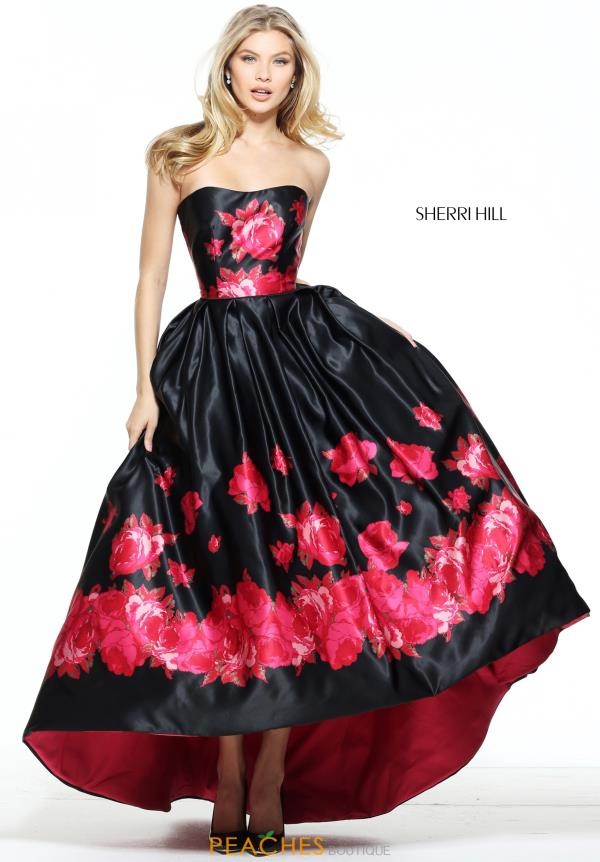 Sherri Hill Satin High Low Dress 51055