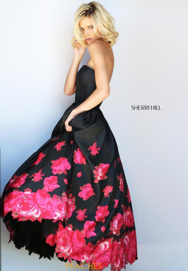 Sherri Hill Strapless A Line Dress 51056