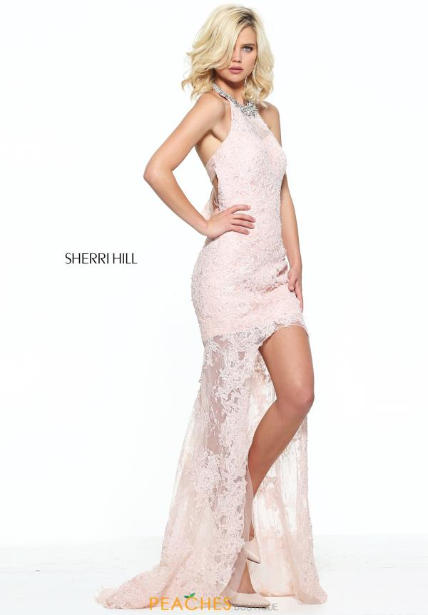 Sherri Hill Lace High Low Dress 51058