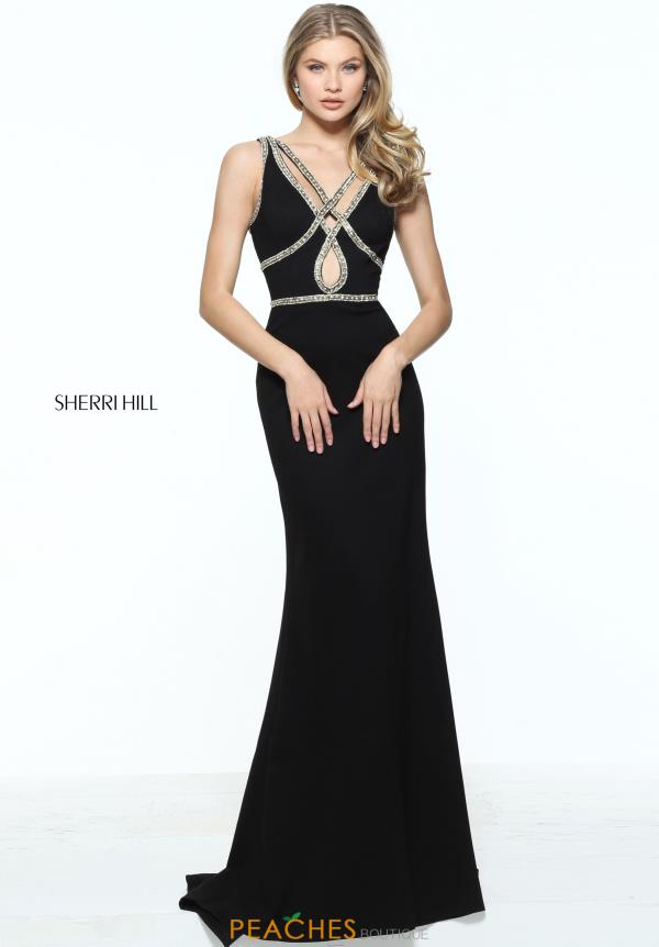 Sherri Hill Beaded Long Dress 51069