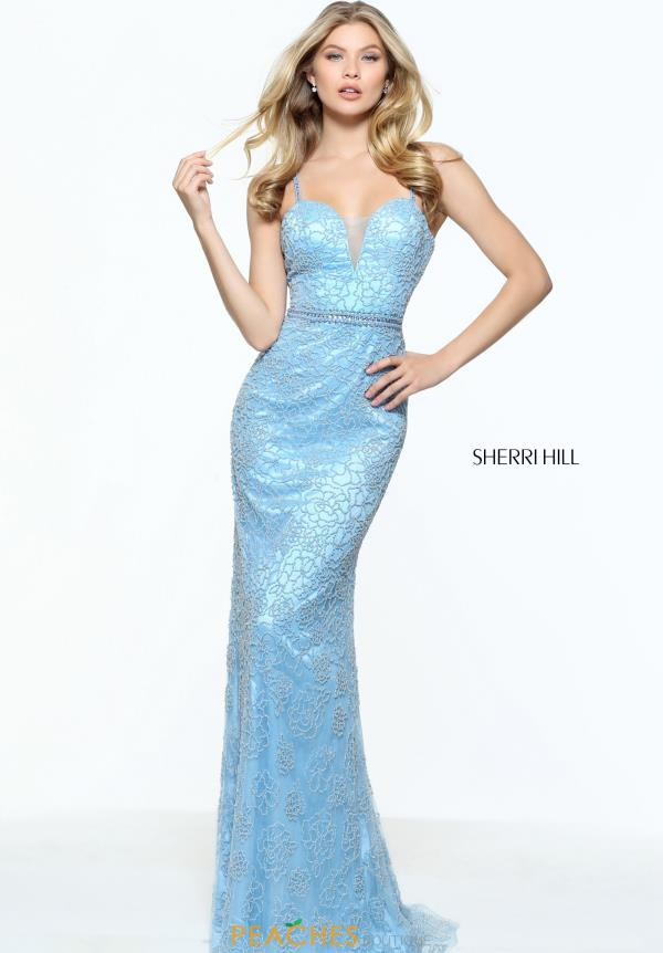 Sherri Hill Beaded Long Dress 51074