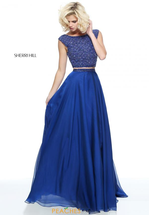 Sherri Hill Sleeved A Line Dress 51091