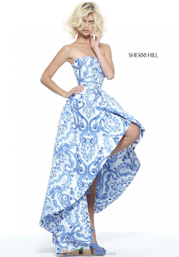 Sherri Hill Print High Low Dress 51097