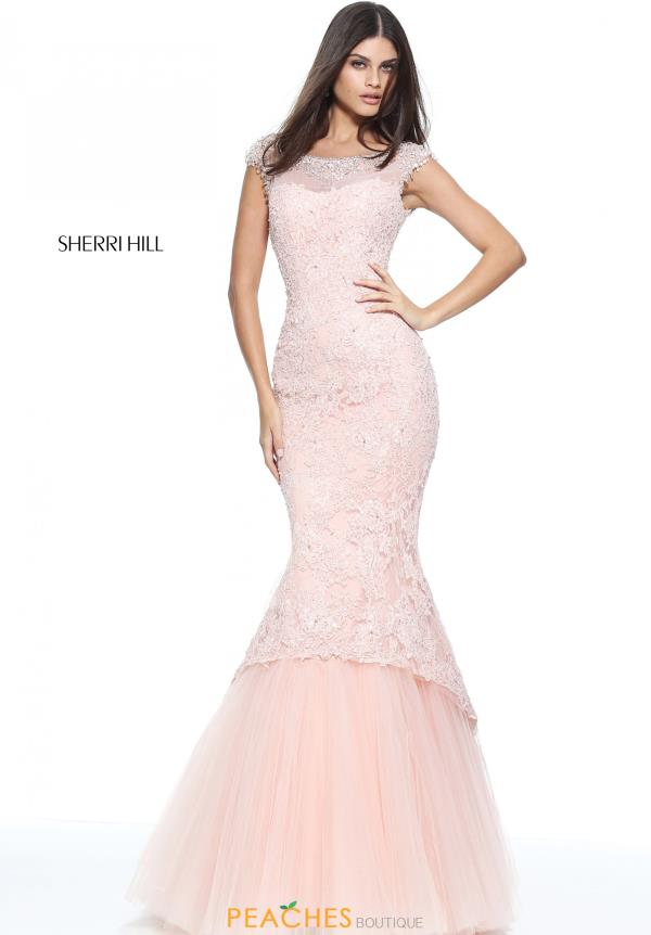 Sherri Hill Mermaid Pageant Lace Dress 51114