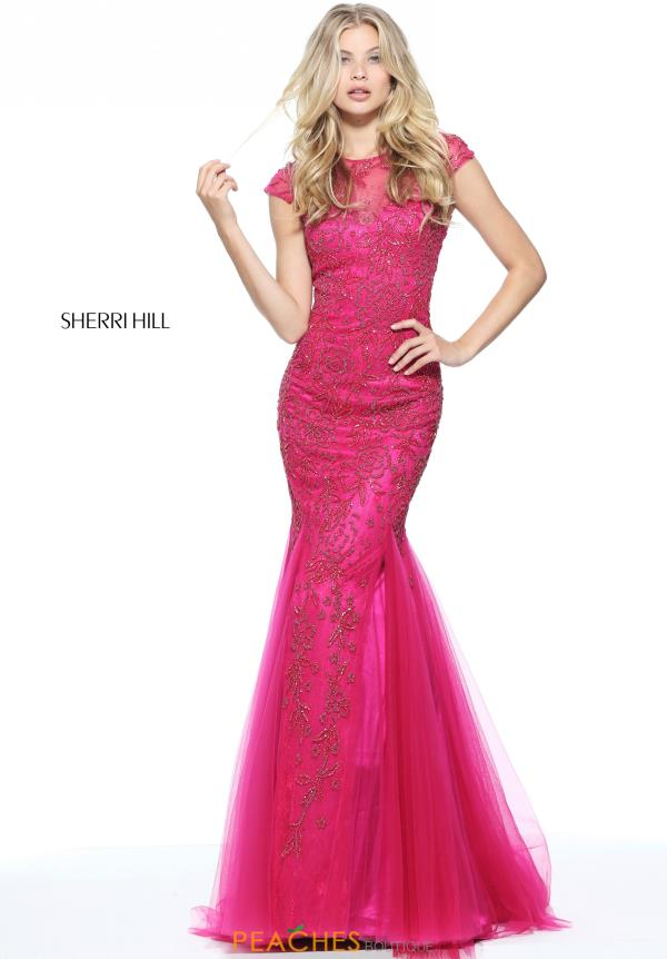 Sherri Hill Sleeved Fitted Dress 51117
