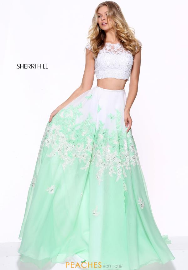 Sherri Hill Lace A Line Dress 51122