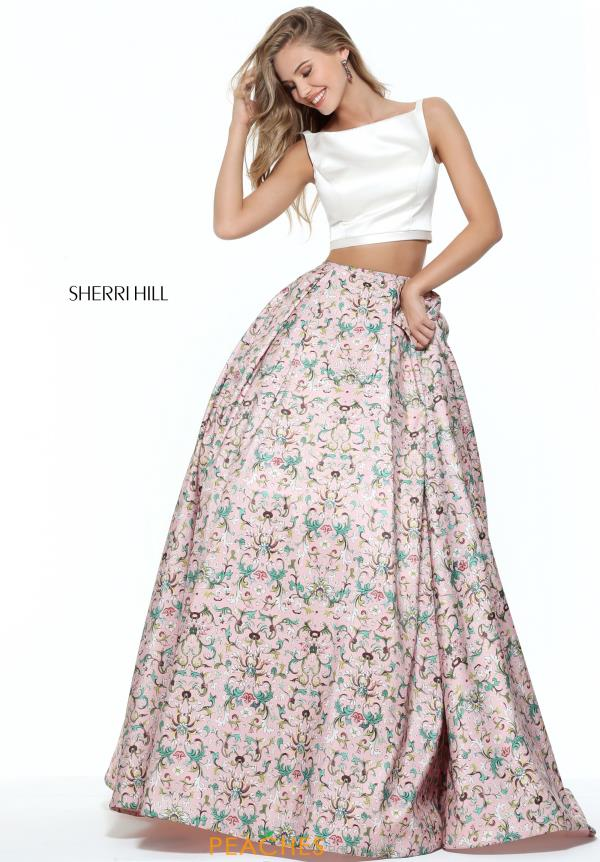 Sherri Hill Two Piece Print Dress 51123