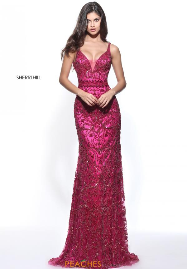 Sherri Hill Beaded Long Dress 51147
