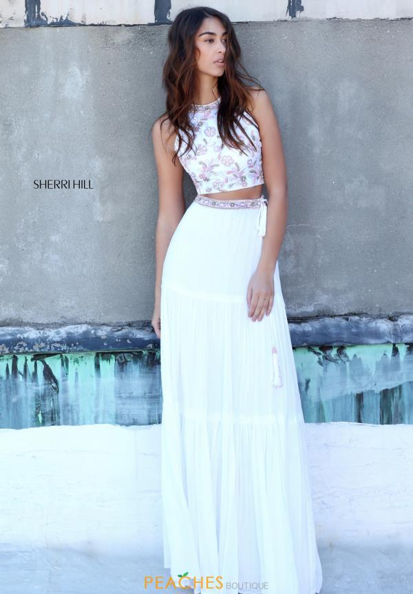 Sherri Hill Two Piece White Dress 51151