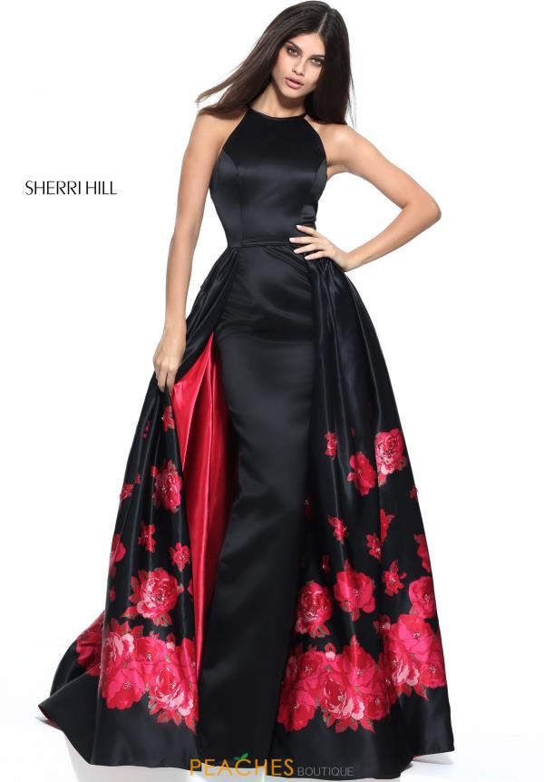 Sherri Hill A Line Print Dress 51193