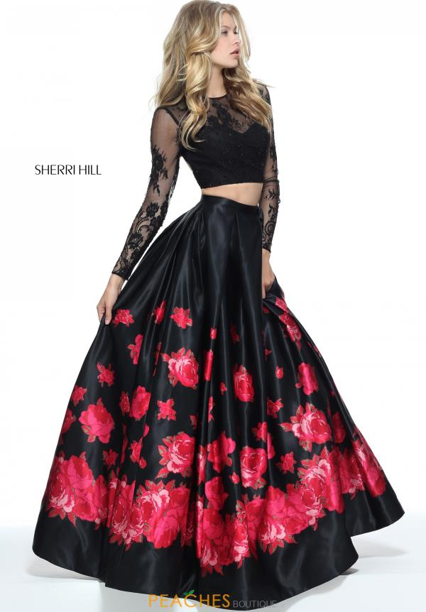 Sherri Hill Two Piece A Line Dress 51195