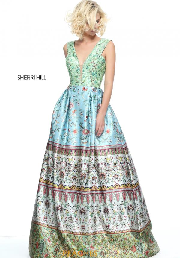 Sherri Hill Long Print Dress 51200