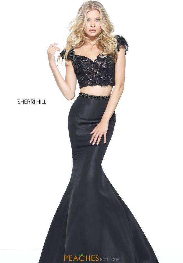 Sherri Hill Cap Sleeve Mermaid Dress 51230