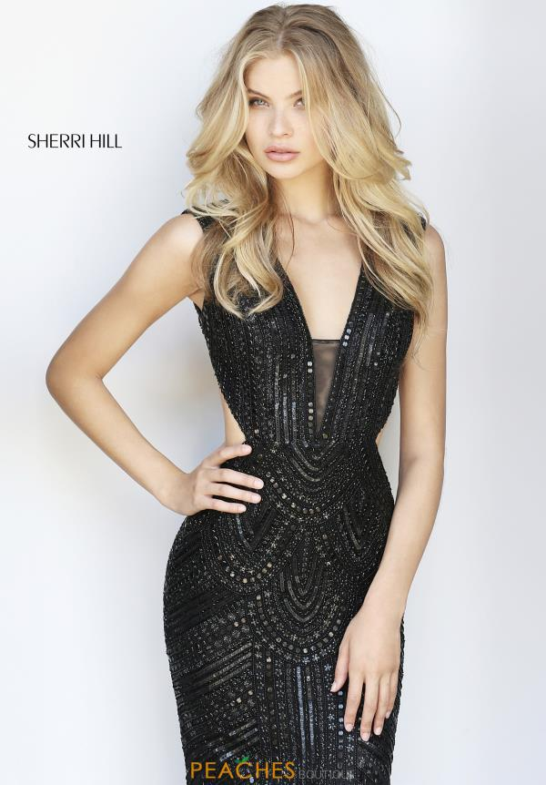 Sherri Hill Long Beaded Dress 51245
