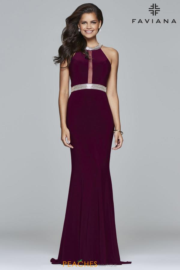 Long Fitted Faviana Dress 7910