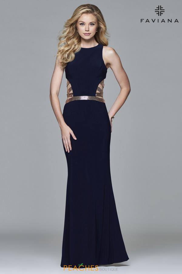 Faviana Long Fitted Dress 7912