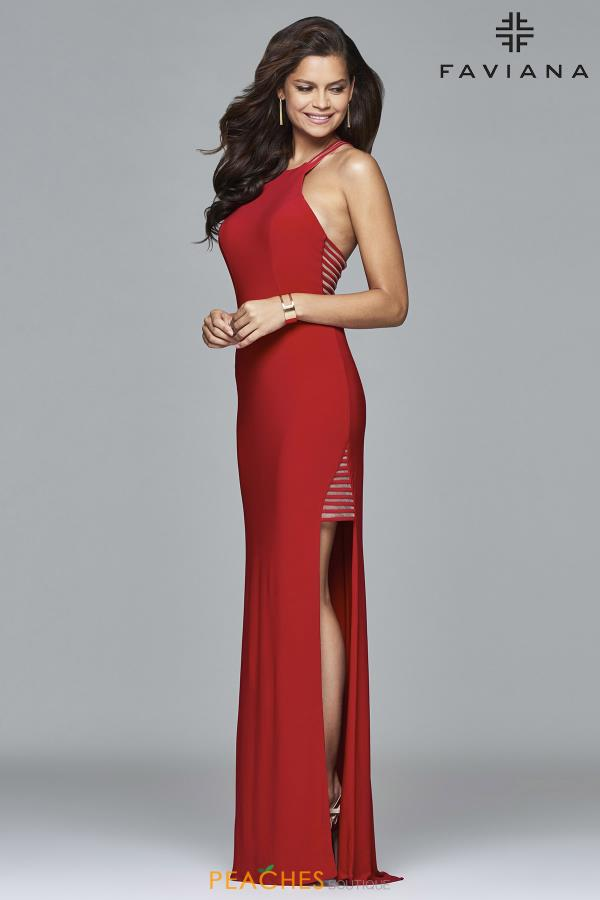 Faviana Long Fitted Dress 7918