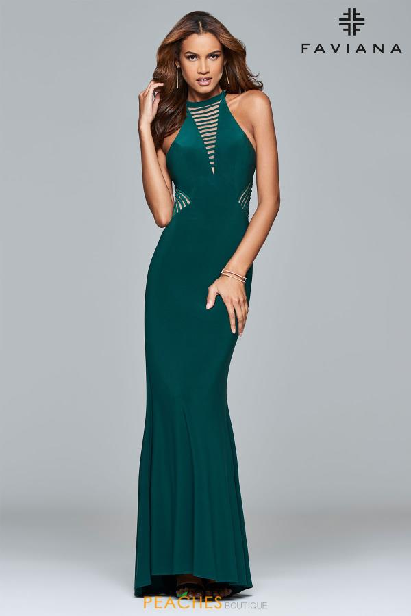 Faviana Fitted Long Dress 7919