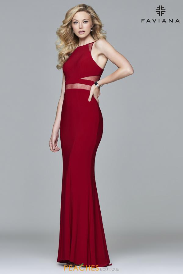 Faviana Fitted Long Dress 7921