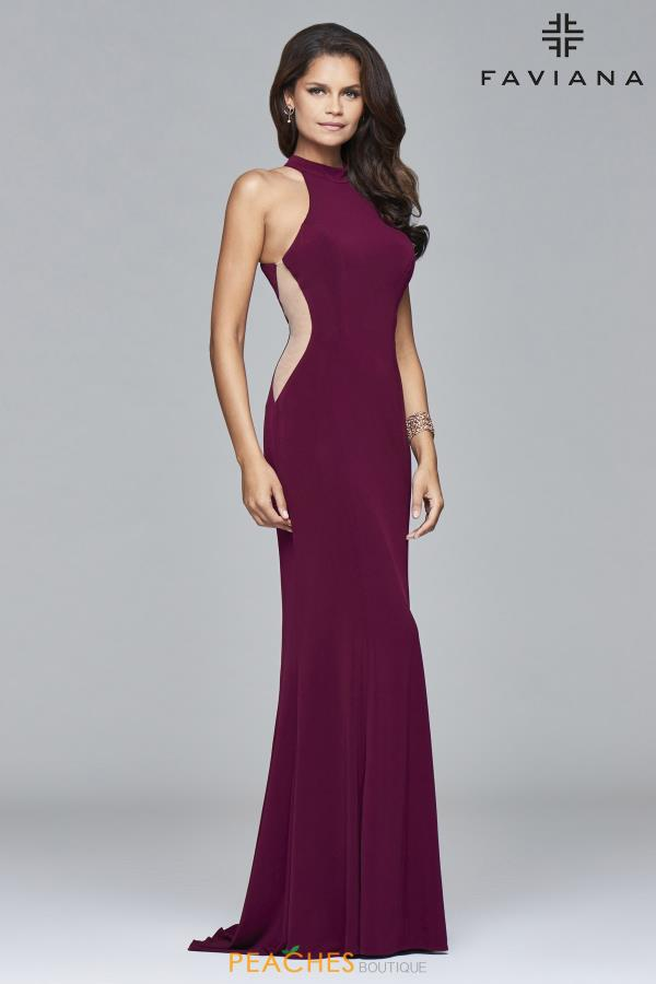 Faviana High Neckline Fitted Dress 7943