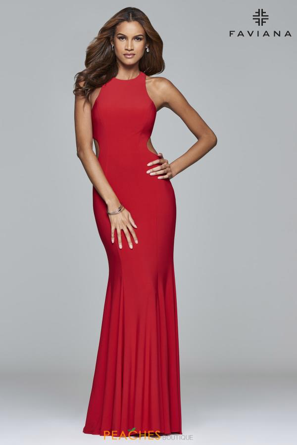 Faviana High Neckline Fitted Dress 7945