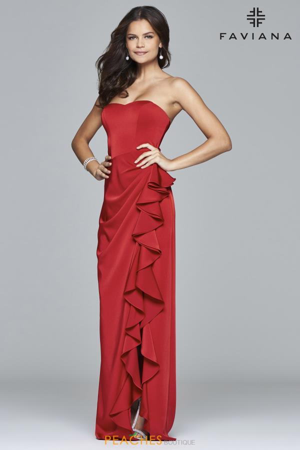 Faviana Strapless Long Dress 7950