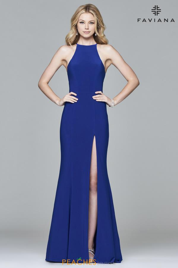 Faviana High Neckline Fitted Dress 7976
