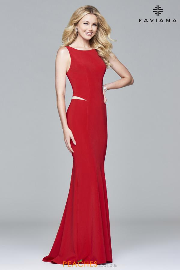 Faviana Fitted Long Dress 7987