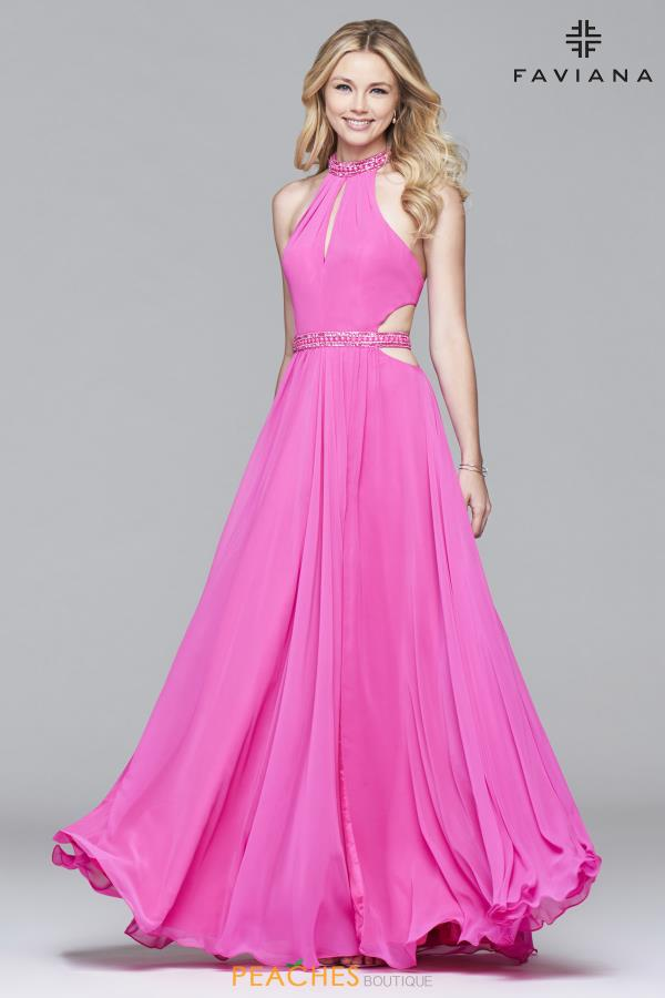 Long A Line Faviana Dress 7991