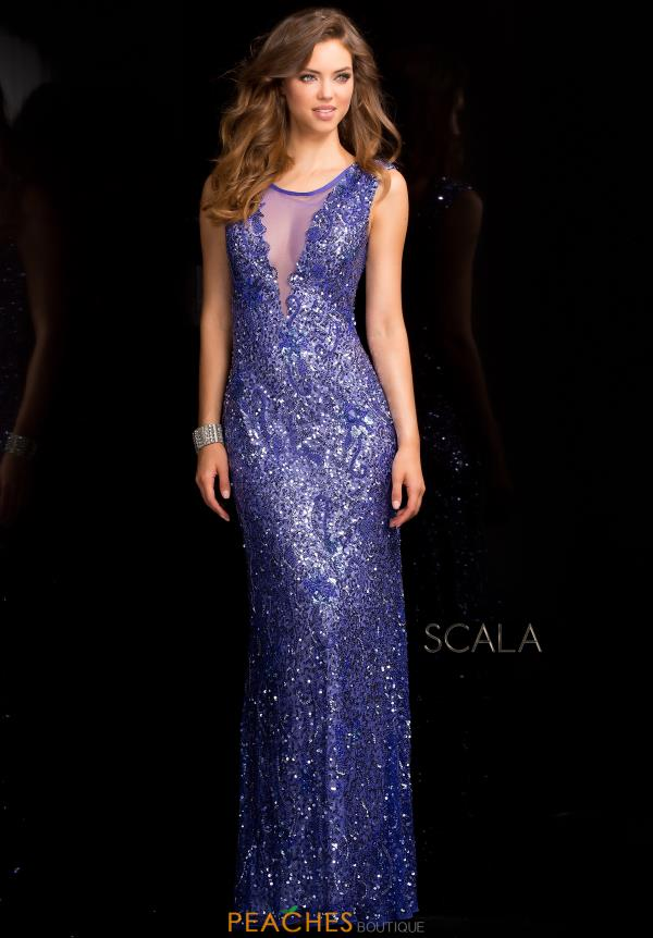 Cap Sleeved Sequins Scala Dress 48569