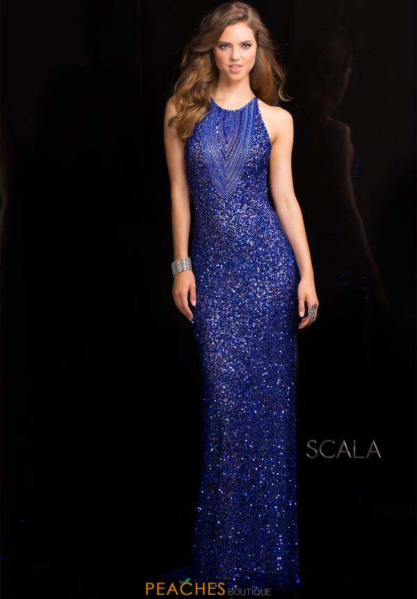 Sexy Open Back Scala Prom Dress 48584