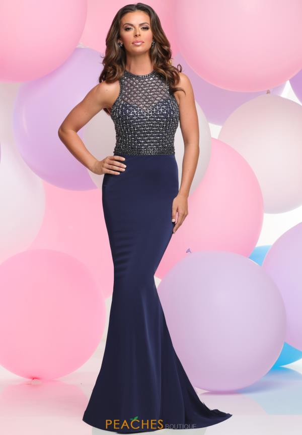 Zoey Grey Fitted Beaded Dress 30908