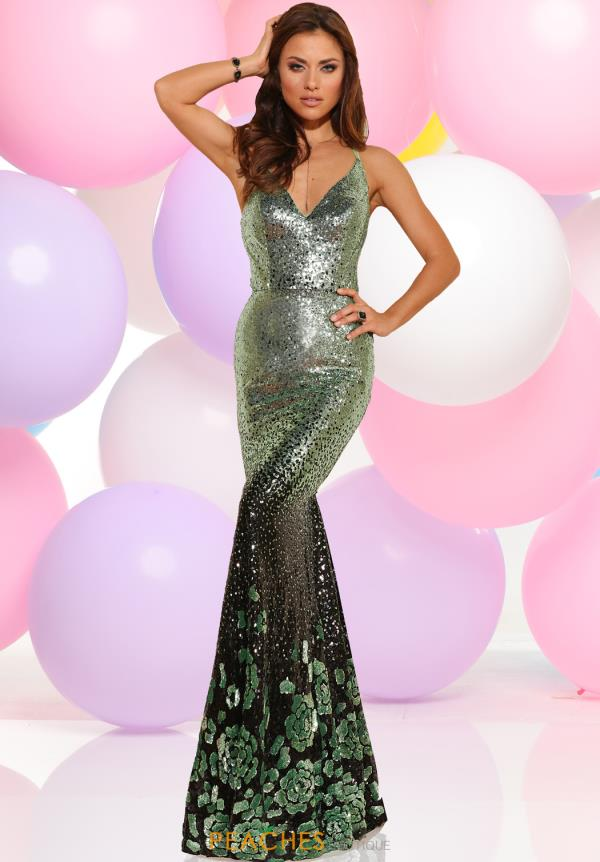Zoey Grey Fitted Sequins Dress 31007