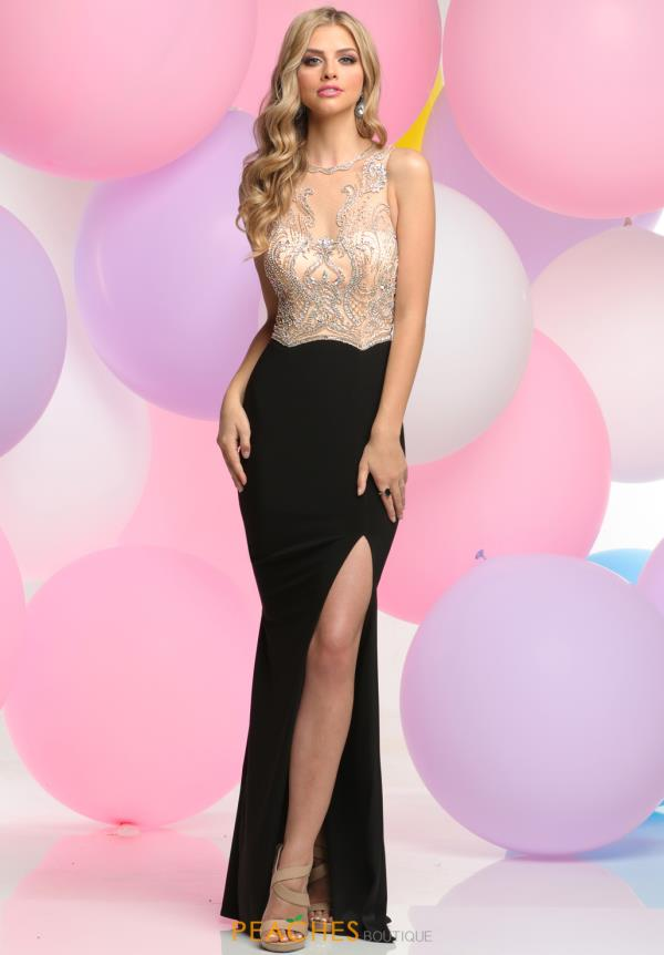 Zoey Grey Fitted Beaded Dress 31084