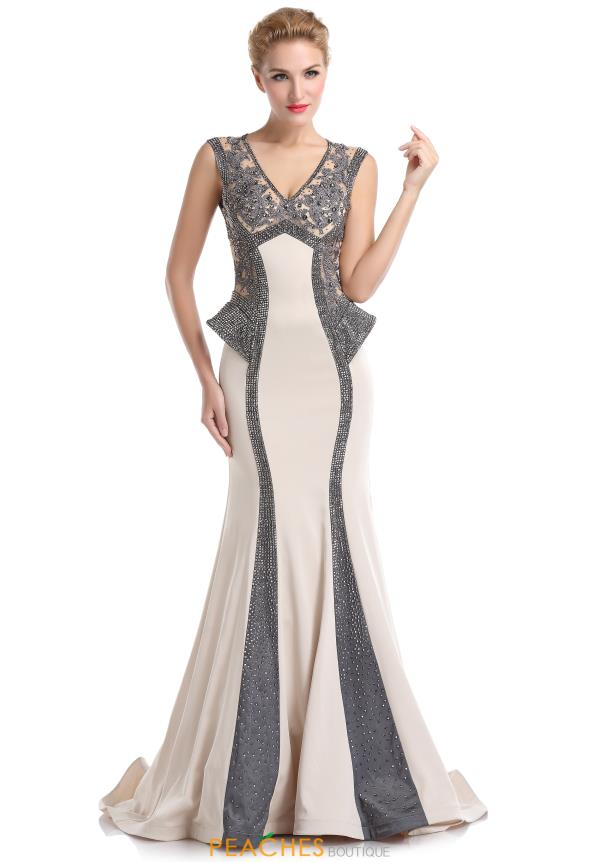 Romance Couture Fitted Long Dress RD1525
