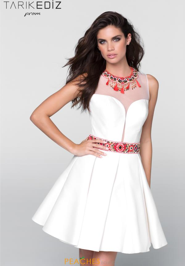 Tarik Ediz A Line Beaded Dress 50053