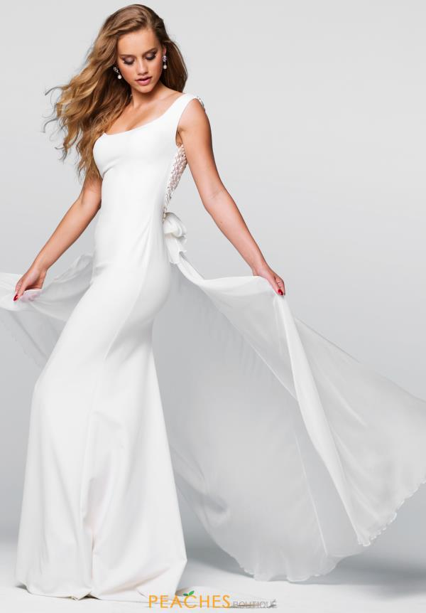 Tarik Ediz Fitted Open Back Dress 50055