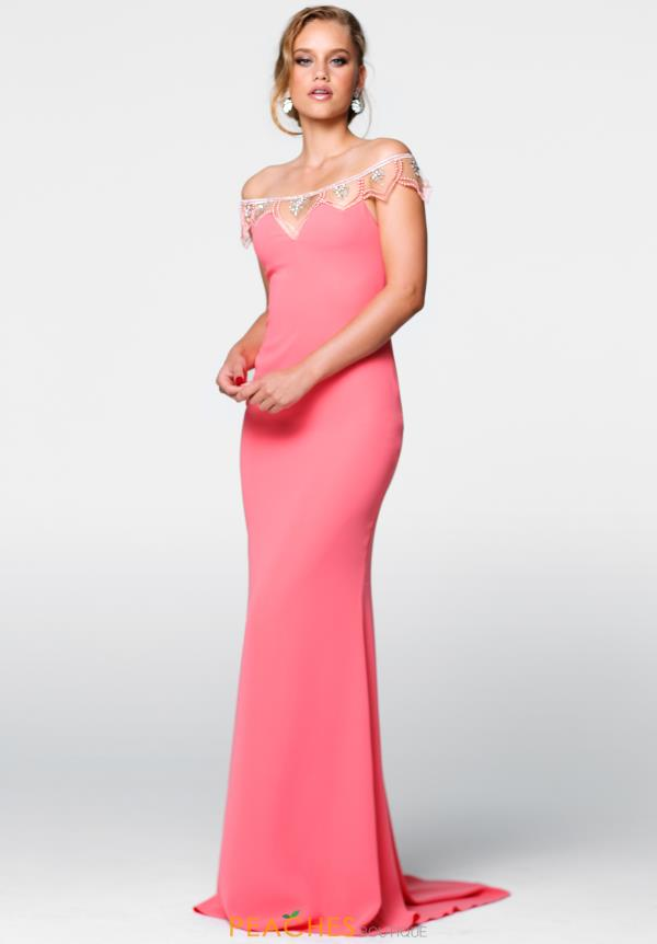 Tarik Ediz Long Strapless Dress 50057