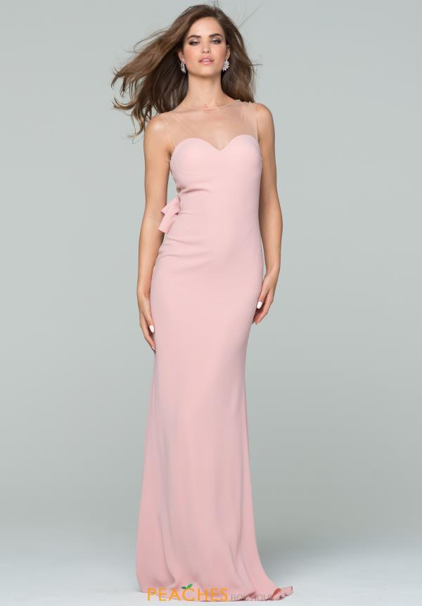 Tarik Ediz Fitted Sexy Back Dress 50083