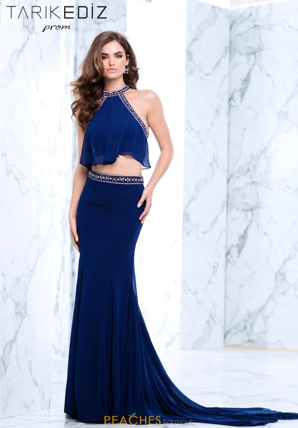 Tarik Ediz Two PIece Beaded Dress 50105