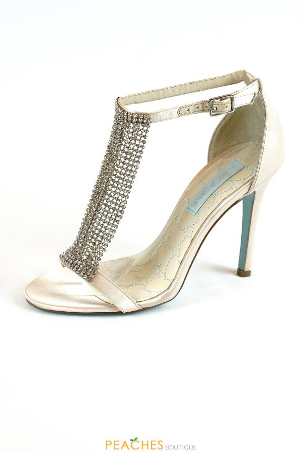 SB-Mesh Single Strap Heels by Betsey Johnson