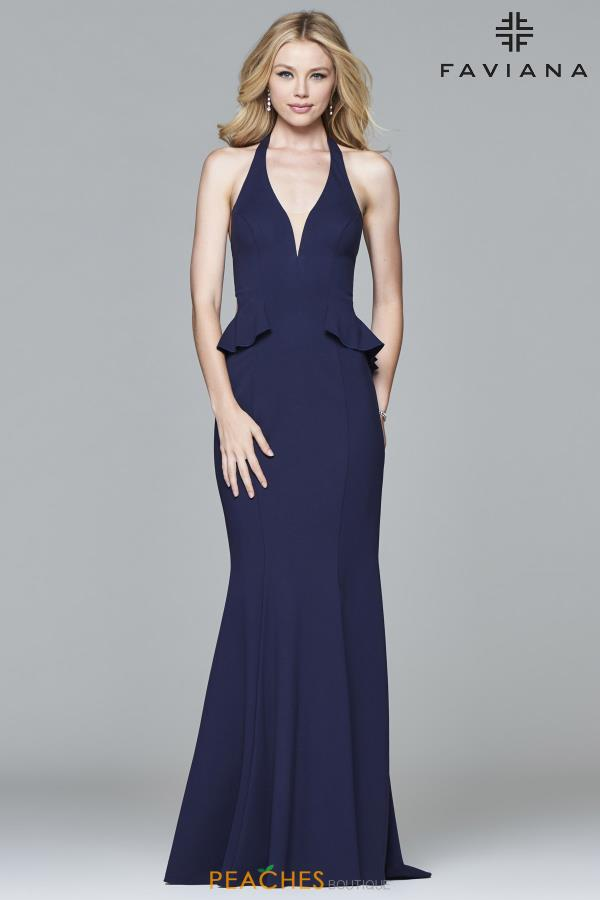 Faviana Long Fitted Dress 7903