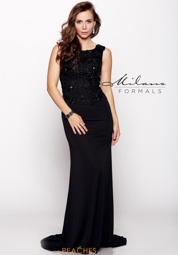Milano Formals Applique Prom Dress E1637