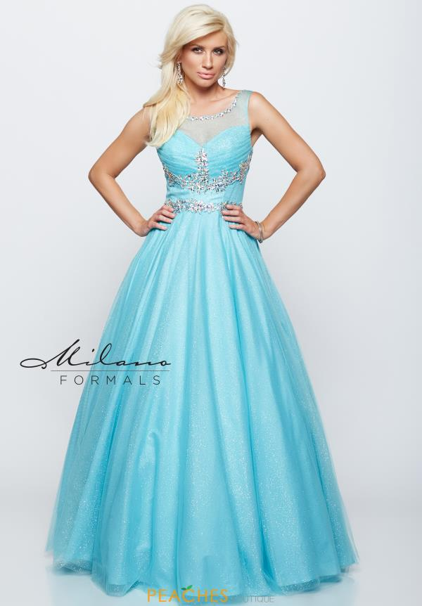 Milano Formals Tulle Prom Dress E1774