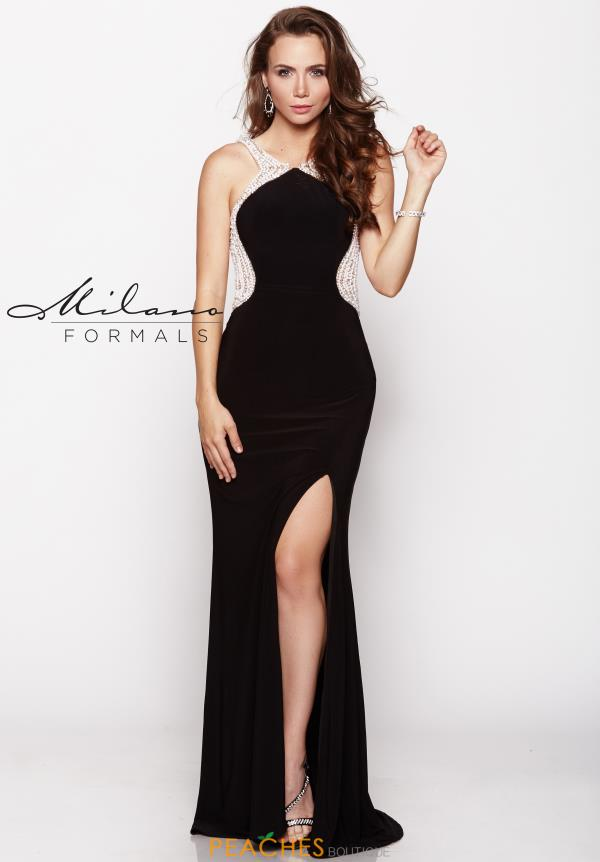 Milano Formals Black Fitted Dress E1869